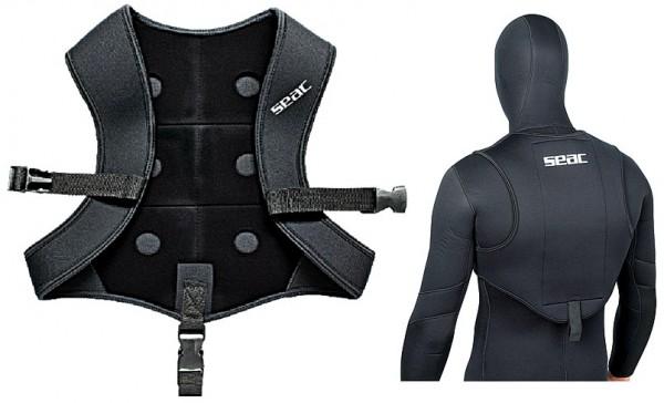 Seac Sub vest black smooth Gewicht Blei Weste schwarz Apnoe Taucher