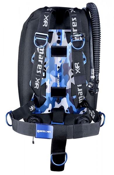 Mares Blue Battle Wing TEK Jacket Backmount Set XR Line Mono Taucher komplett