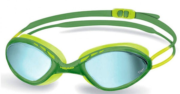Head Tiger Race Mirrored LiquidSkin grün gelb Profi Schwimmbrille Maske schwimmen Spiegelglas