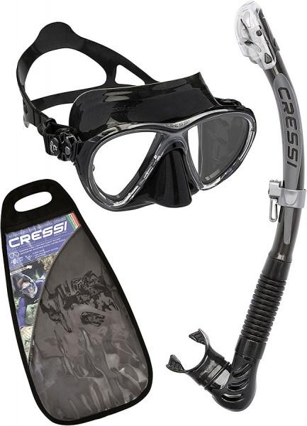 Cressi Big Eyes Evolution Tauchmaske Maske alpha ultra dry Schnorchel Set schwarz