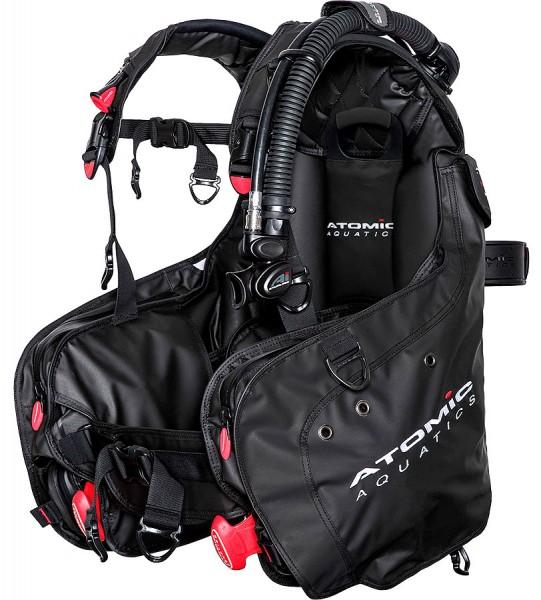 Atomic Aquatics BC1 Tarier Taucher Jacket schwarz Tarierjacket Integrierte Bleitaschen System
