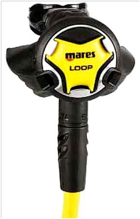 Mares Oktopus Loop Taucher alternative Luftversorgung zweite 2te Stufe gelb