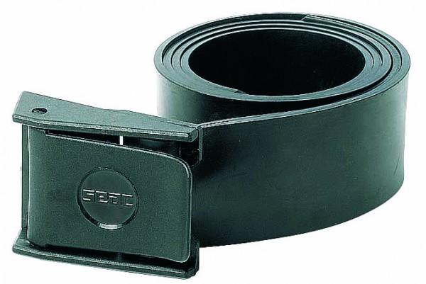 Seac Sub Cintura Nylon elastischer Gummi Bleigurt Apnoe Bleigurt schwarzer schwarz Schnalle