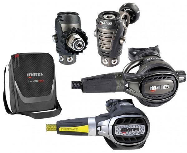 Mares Epic ADJ 82X PVD Atemregler Set + Okto Ultra DIN oder INT Anschluss Taucher Regler