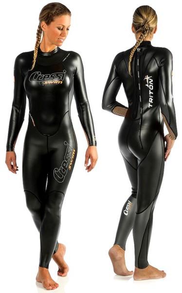 Cressi Triton Schwimmanzug 1,5mm Ultraskin Neopren Damen schwimmen Anzug Schwimm