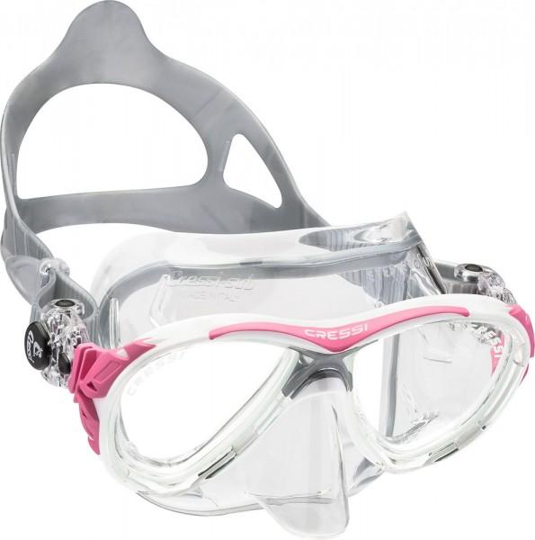Cressi Eys evolution cristal Tauchmaske pink / clear Taucher Maske tauchen Brille Tauchbrille