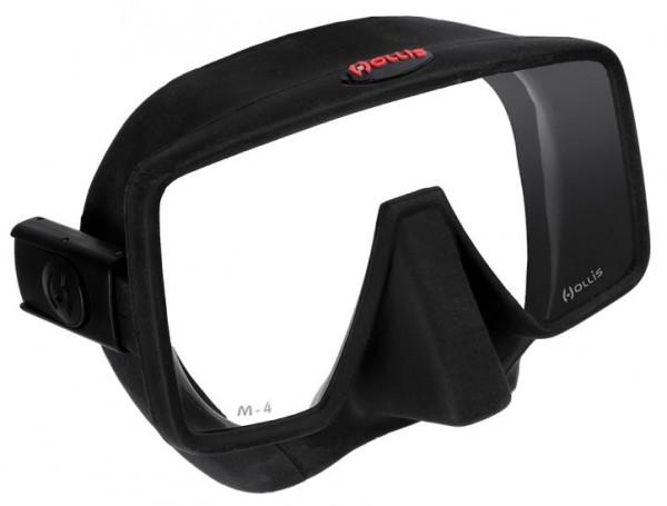 Hollis M4 Tauchmaske Taucher Maske Brille tauchen schwarz grosses Sichtfeld gute Passform