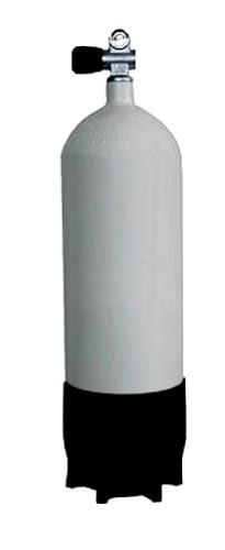 Faber 5 Liter 200 Bar Tauchflasche mit Ventil Standfuss Pressluftflasche Stahlflasche