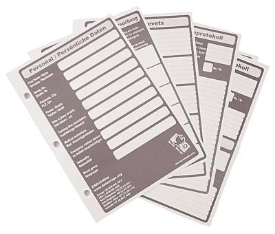 Logbuchblätter Taucher Logbuch Einlagen für alle Logbook L von iQ Nachfüllblätter