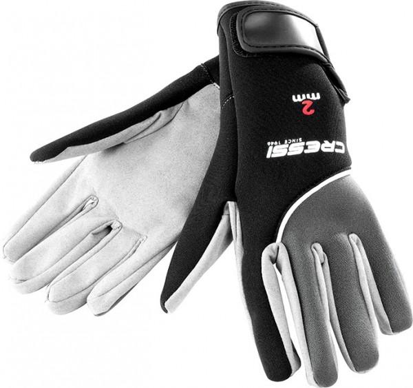 Cressi Tropical 2,0 mm Taucher Handschuhe aus feinen Leder Neopren mit Klettverschluss
