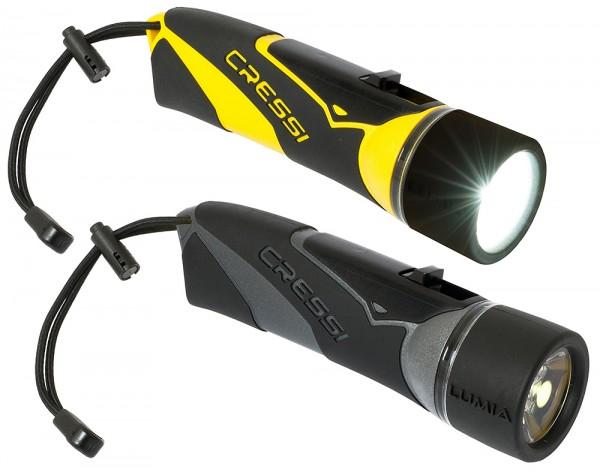 Cressi Lumia Tauchlampe kleine helle kompakte Robuste Taucher Lampe 270 Lumen Power Led