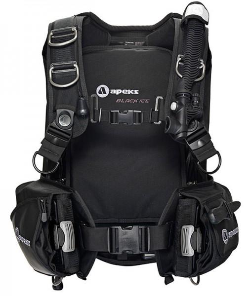 Apeks Black Ice Wing Tarier Tauchjacket Taucher Jacket schwarz robust integriertes Bleitaschen Sytem