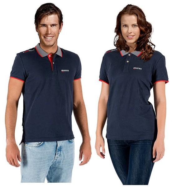 Mares Polo Shirt XR LineFreizeit T-Shirt 100 % Baumwolle Taucher tauchen