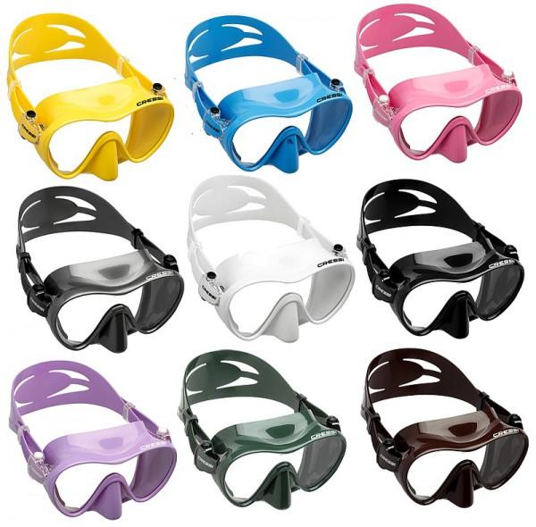 Cressi F1 Tauchmaske Rahmenlos Taucher Maske Taucherbrille verschiedene Farben