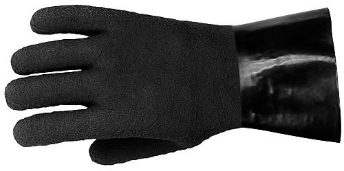 Polaris Trockentauchhandschuh schwarz Tauchhandschuh Taucher Handschuh Gummi