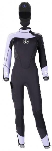 Aqua Lung Dynaflex Jumpsuit FS BZ 5.5 mm Tauchanzug Damen Frauen Taucher Anzug separater Kopfhaube
