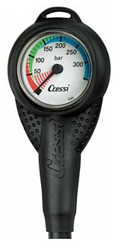 Cressi Mini Manometer Finimeter 350 Bar Manometer Druckmesser
