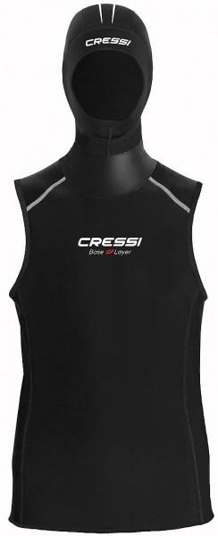 Cressi Base Layer Hooded Vest Damen Neopren Unterzieher mit Kopfhaube tauchen Taucher Wassersport