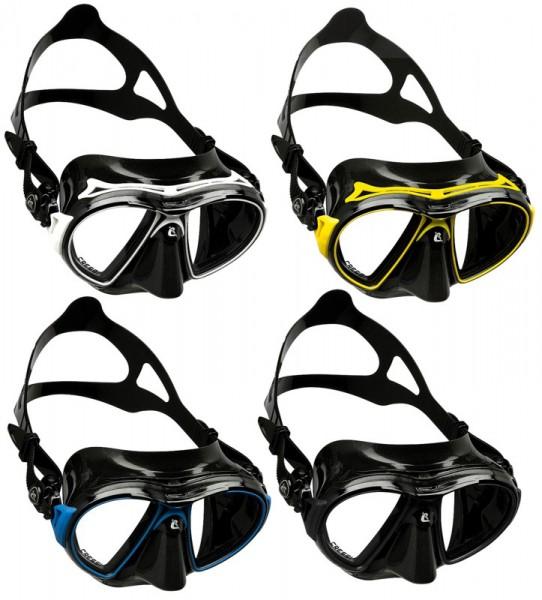 Cressi Air Christal schwarze Taucher Maske Tauchmaske Taucher Brille