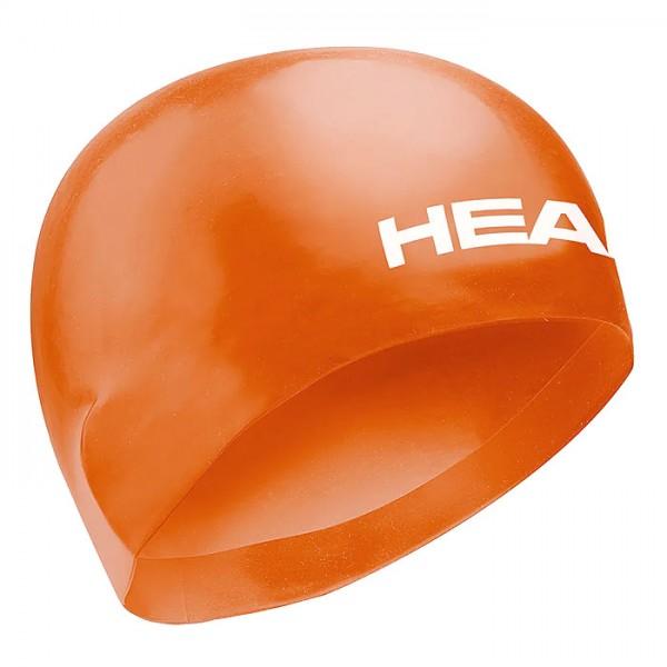 Head Racing Cap Profi Wettkampf Gr. L Schwimmhaube Schwimmkappe Silikon orange Schwimm Haube Kappe