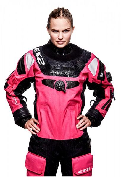 Waterproof EX2 Damen Trockentauchanzug Quad Laminat Frauen Trocki pink Atmungsaktiv