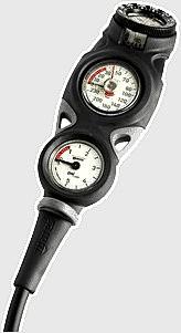 Mares Mission 3 er 3er Konsole Finimeter + Kompass + Tiefenmesser Manometer