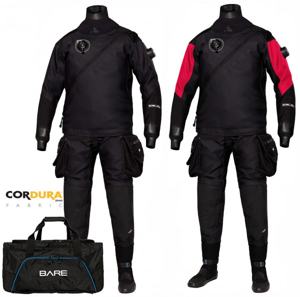 Bare Expedition HD2 Tech Dry robuster Trockentauchanzug Cordura Trocken Taucher Anzug tauchen