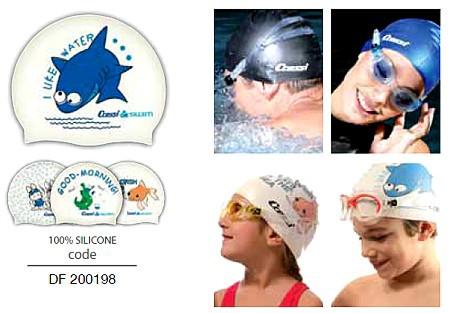 Cressi Badehaube Schwimmhaube Cap Junior für Kinder aus Silikon