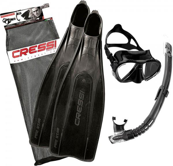 Cressi Pro Star Bag Schnorchel Set Schnorchelset Flossen Maske Schnorchel