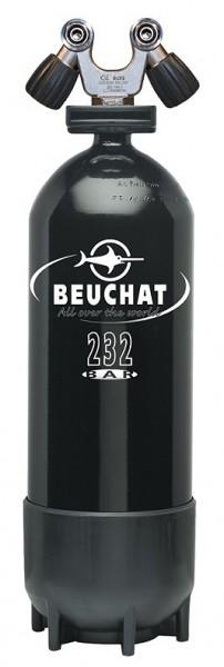 Beuchat 15 Liter Taucher Pressluft Flasche Tauchflasche Tauchen 232 Bar Doppel DIN Ventil schwarz