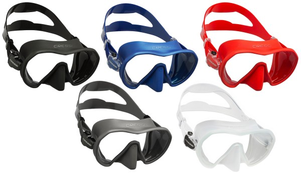 Cressi Z1 Tauchmaske Rahmenlose Taucher Maske Silikon High Tech tauchen grosses Sichtfeld