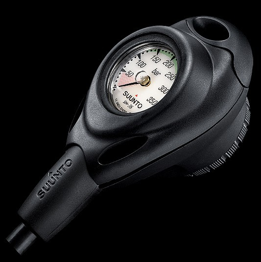 Suunto 2er Konsole Finimeter CB-1 + SK-7 Tauchkompass kurz Taucher Flaschendruck Messgerät