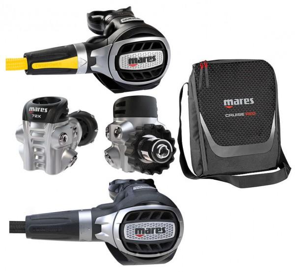 Mares Ultra 72X Atemregler Set + Oktopus Ultra + Tasche Taucher Regler leicht wenig Gewicht