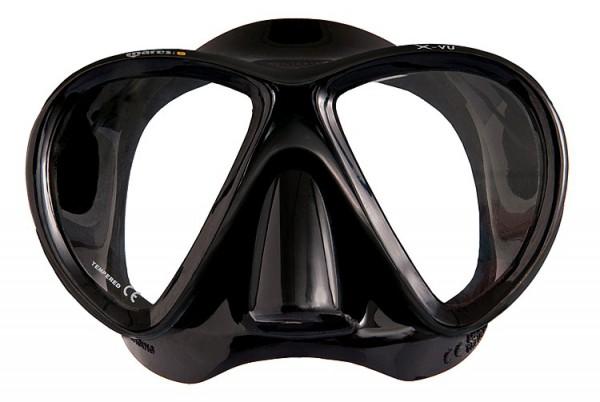 Mares X-VU schwarze Apnoe Maske Taucher Maske Freitauch Maske