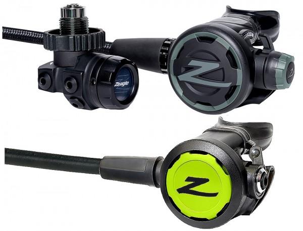 Zeagle F8 Regulator Atemregler Set inkl Oktopus Envoy 2 DIN Anschluss Kaltwasser Regler