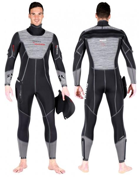 Mares Flexa Graphene 7 mm 7mm Neopren Tauchanzug Taucher Anzug Halbtrocken Herren Semy Dry Tauchen