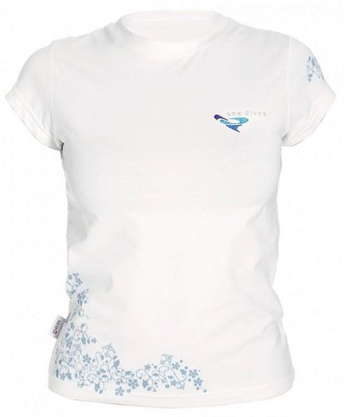Mares T-Shirt She dives Damen Freizeit T Shirt Taucher Leibchen Baumwolle