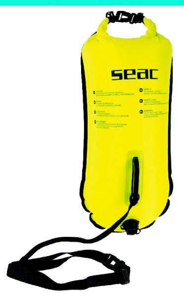 Seac Sub Schwimmboje Boje schwimmen Sicherheit Stauraum gelb mit Leine und Befestigung