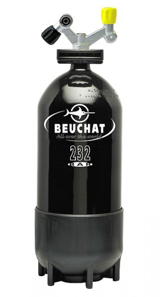 Beuchat 12 Liter Taucher Flasche Tauchflasche Pressluftflasche Stahlflasche Doppelventi