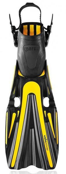 Mares Volo Power ABS schwarz / gelb Gr. S Tauchflossen Taucherflossen Geräteflossen Flossen tauchen
