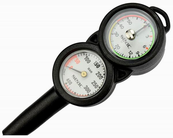 Seac Sub 3 dreier Konsole Finimeter + Tiefenmesser + Kompass Taucher tauchen