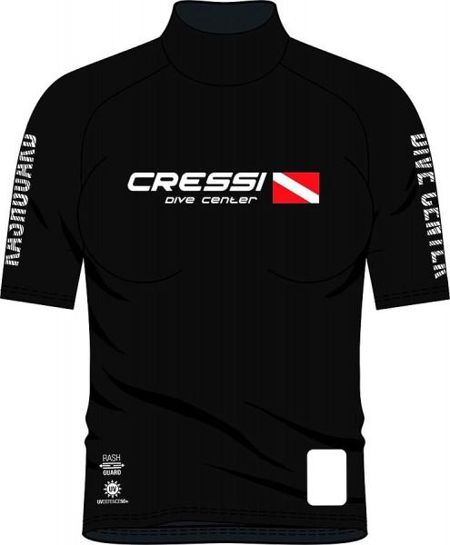 Cressi Rush Guard Damen kurz ärmelig Sonnenschutz UV Schutz Leibchen Taucher T - Shirt