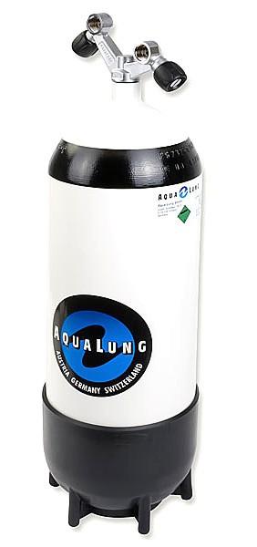 Aqualung 15 Liter Tauchflasche Taucher Flasche Pressluftflasche Standfuss Doppelventil tauchen