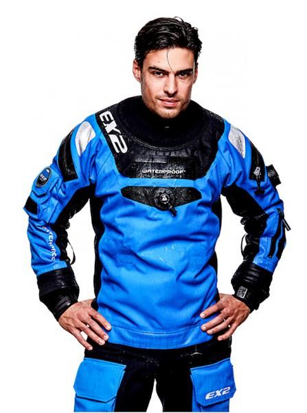 Waterproof EX2 Trockentauchanzug Männer Quad Laminat Trocki blue Atmungsaktiv