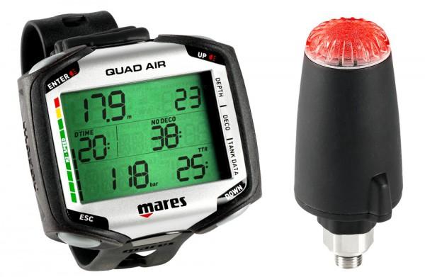 Mares Quad Air + Sender Transponder Multigas fähig Tauchcomputer Taucher Computer tauchen
