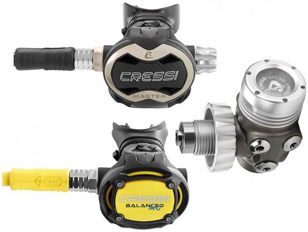 Cressi Master T10 SC Atemregler DIN Set inkl. Oktopus Balanced Taucher Regler tauchen