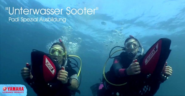 Scooter Unterwasser tauchen Padi Spezial Tauchkurs Taucher Kurs
