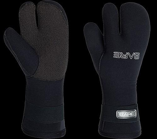 Bare 7mm 3 Finger Tauchhandschuh Taucher Neopren Handschuh Kevlar Guantlat