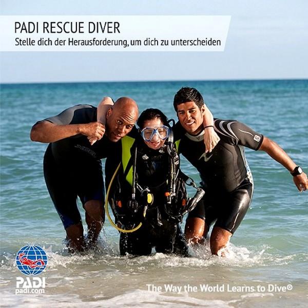 Padi Rescue diver Rettungs Taucher Tauchkurs Taucher Kurs