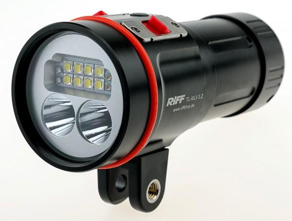 Riff MLV 3.2 Video Lampe Licht Unterwasser Videolampe Videolicht